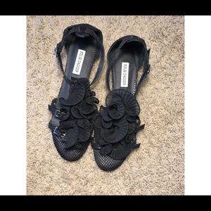 Kelsi Dagger Ruffle Strappy Sandals Size 8